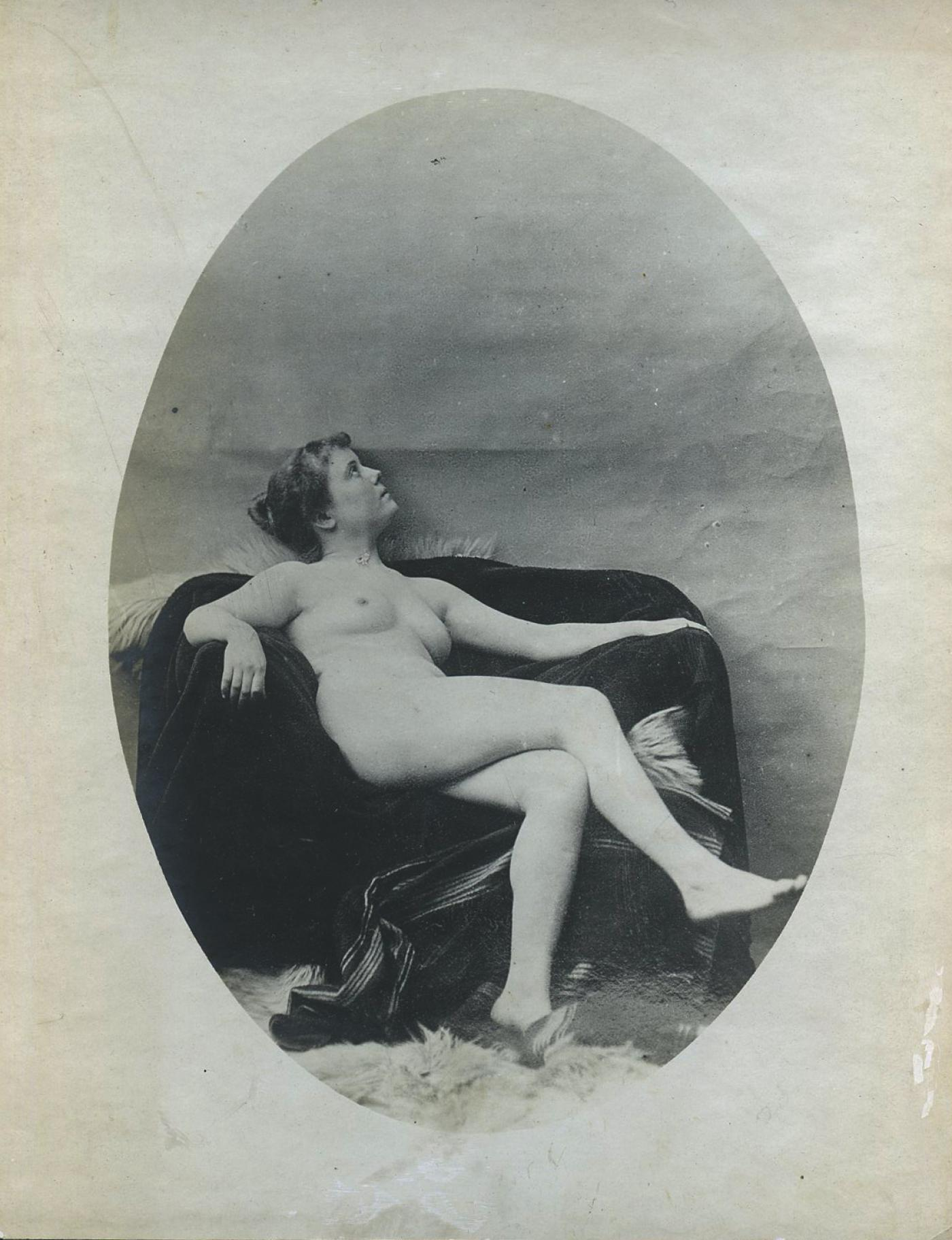 antique photo of a nude woman