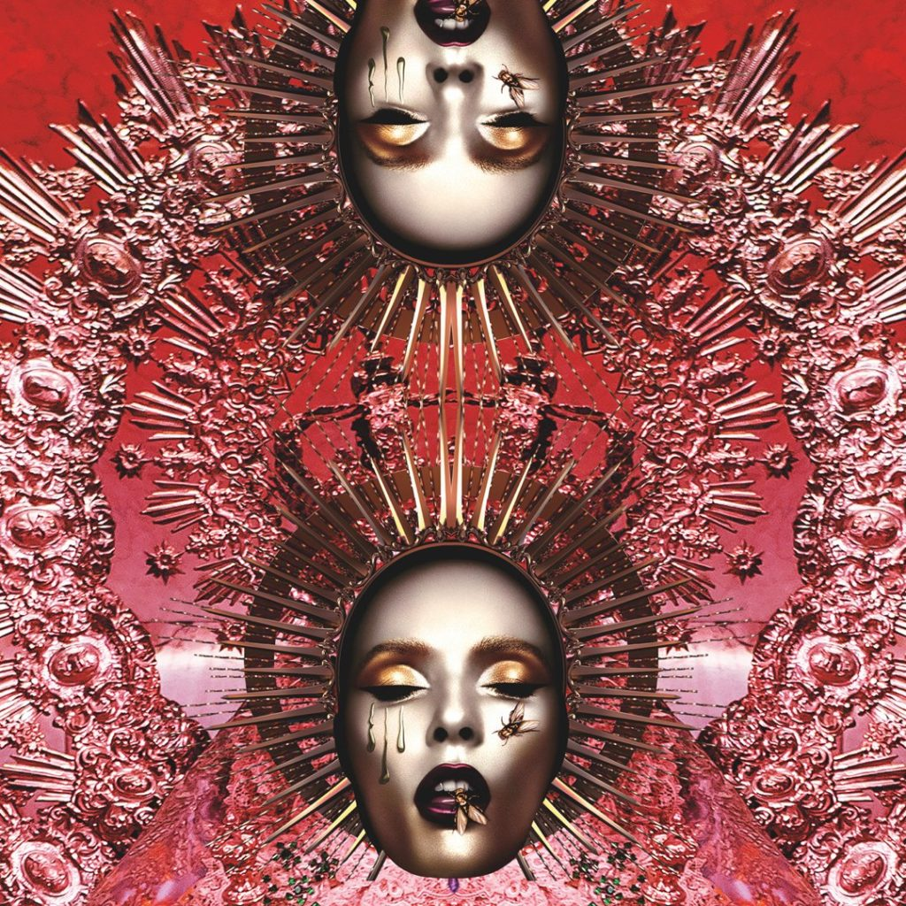 Pat McGrath makeup-Double Image of the packaging artwork for the MothershipV Bronze Seduction Eye Palette