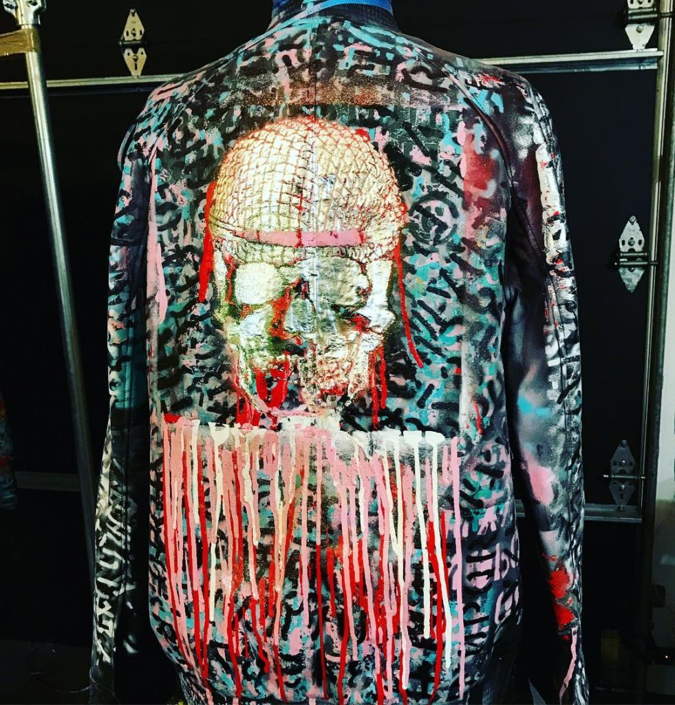 Nats Getty Strike Oil Spray Painted Work of Art-The Coolest Jacket