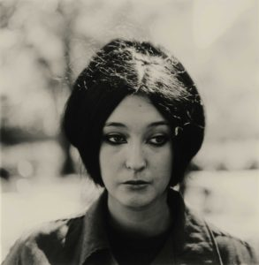 Diane Arbus photo of a woman in NYC wearing eyeliner
