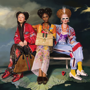 gucci-hottest-fashion brand for 2019-image of 3 female models styled in head to toe Gucci
