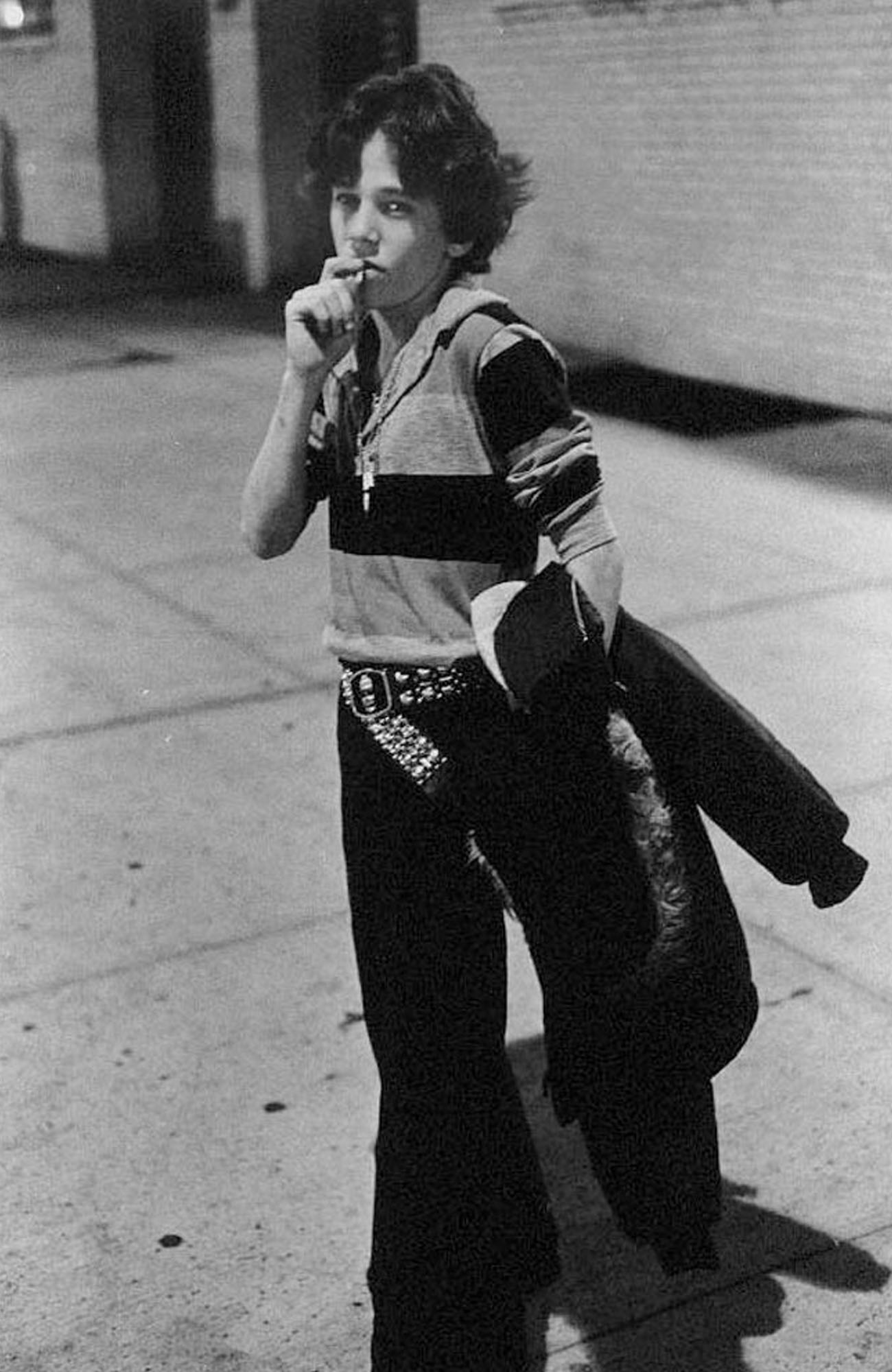 picture of a boy smoking a cigarette