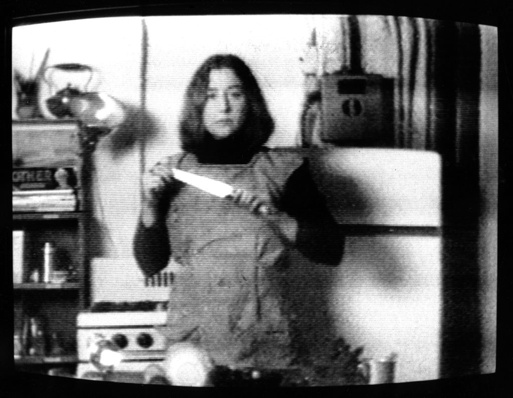 Video still from Martha Rosler