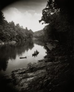 sally man print of the Maury River in Virginia